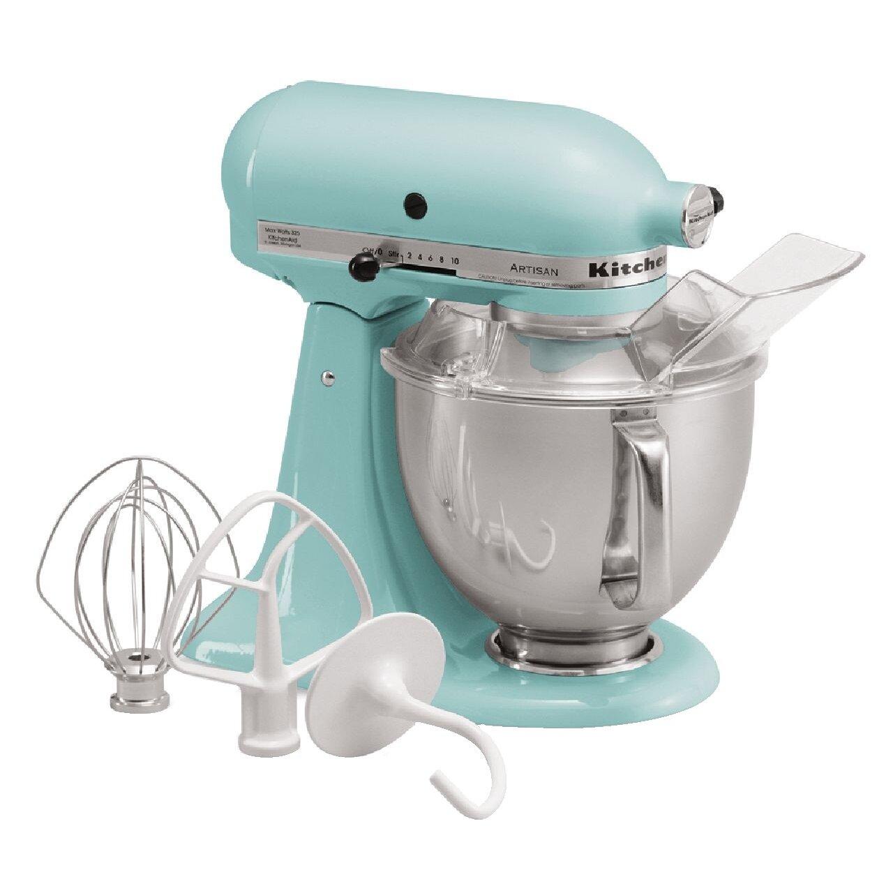 Kitchenaid kitchenaid artisan series 5 qt stand mixer with pouring shield reviews wayfair - Kitchenaid artisan qt stand mixer sale ...