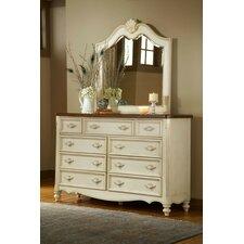 Brecon 9 Drawer Dresser with Mirror by One Allium Way
