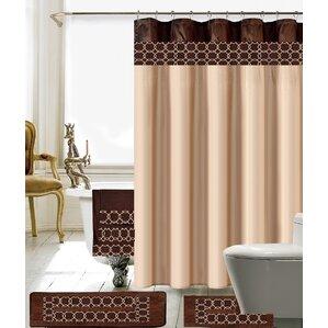 Austyn 18 Piece Embroidery Shower Curtain Set  Kids Shower Curtain
