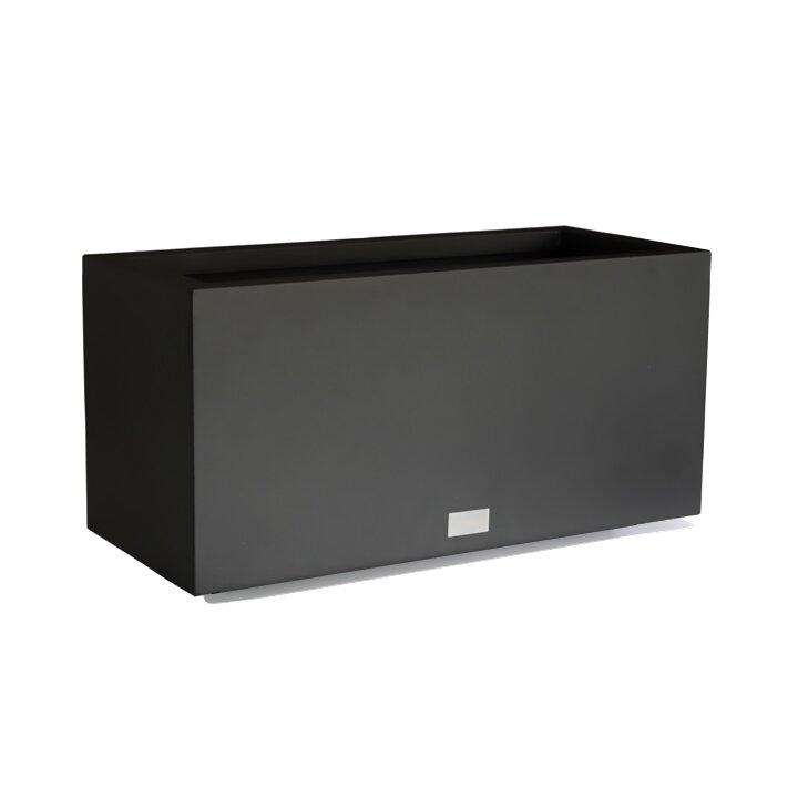 Veradek metallic series long galvanized steel planter box for Decor 720 container
