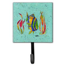 Tropical Fish Leash Holder and Wall Hook by Caroline's Treasures