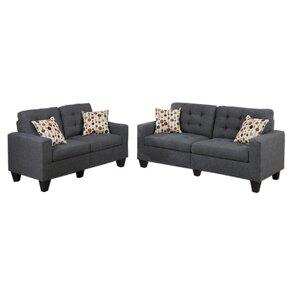 Amia 2 Piece Sofa And Loveseat Set