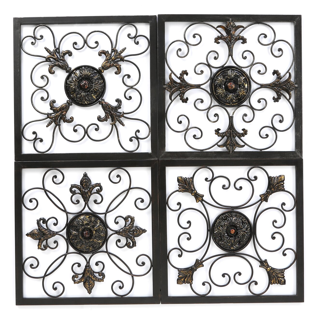 Metal Wall Plaque aspire metal wall plaque set in antique bronze & reviews | wayfair