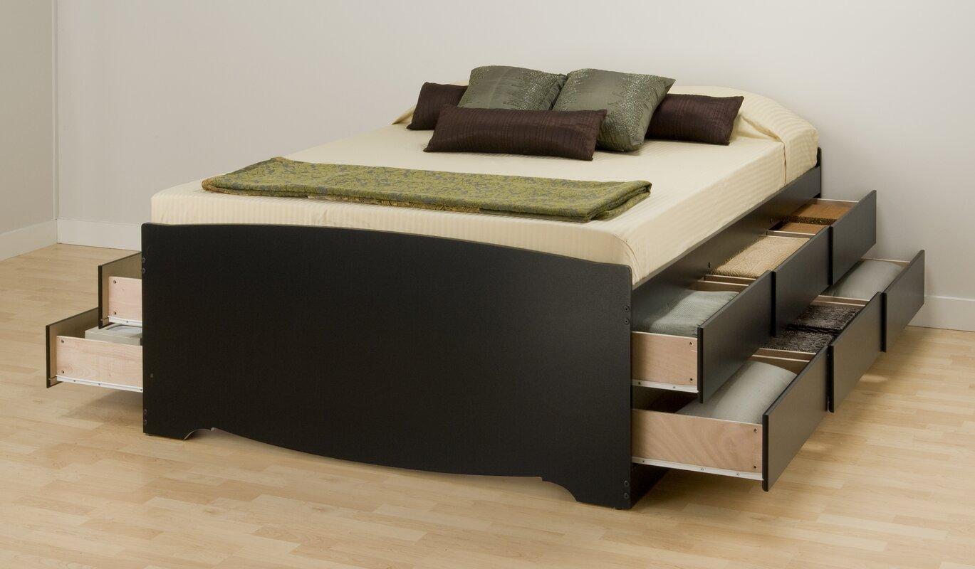 storage beds you'll love  wayfair - valerio storage platform bed