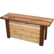 7.3 Gallon Wood Storage Bench