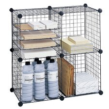 "Wire Cube Shelving System 5"" Cube Unit Bookcase"