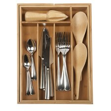 Expandable Flatware Medium Tray in Natural