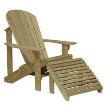 Adirondack Chair and Footstool Set by Hershy Way