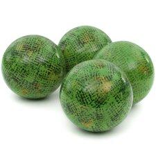 Sponged Porcelain Decorative Ball Figurine (Set of 4)