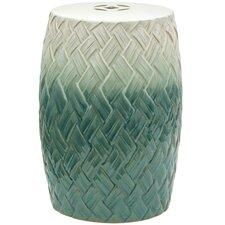 Carved Woven Design Porcelain Garden Stool