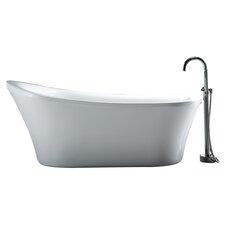 "Rachel 70"" x 34"" Freestanding Acrylic Slipper Bathtub"