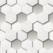 Honeycomb 10m L x 53cm W Geometric Roll Wallpaper