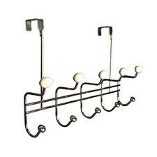 Classic Over the Door 5 Hook Rack