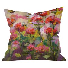 Bee Balm and Bees Out Throw Pillow by DENY Designs