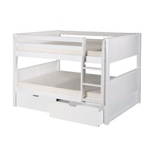 Camaflexi Full over Full Bunk Bed with Storage
