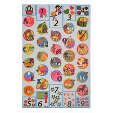Fun Time Now I Know My ABC's Kids Rug