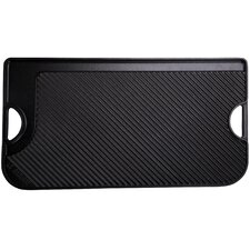 """Cast Iron 18"""" x 9"""" Reversible Grill Pan & Griddle"""