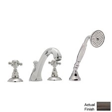 Country Double Handle Bath Roman Tub Faucet with Cross Handle by Rohl