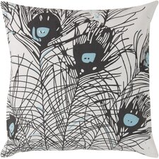 Perfect in Peacock Cotton Throw Pillow