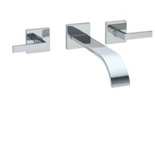 Wave Double Handle Wall Mount Tub Filler Faucet with Lever Handle by Rohl