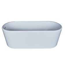 Turq 66.87 x 27.5 Oval Acrylic Freestanding Bathtub by Spa Escapes
