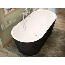 Little Key 63 x 31.37 Freestanding One Piece Soaking Bathtub with Center Drain by Spa Escapes