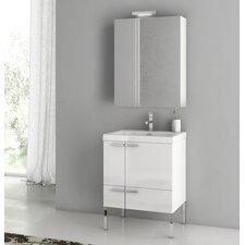 New Space 23.4 Single Bathroom Vanity Set with Mirror by ACF Bathroom Vanities