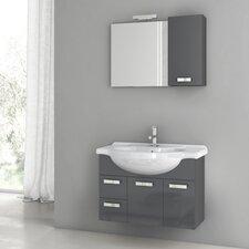 Phinex 31.5 Single Bathroom Vanity Set with Mirror by ACF Bathroom Vanities
