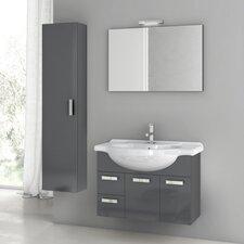 Cubical 31.5 Single Bathroom Vanity Set with Mirror by ACF Bathroom Vanities