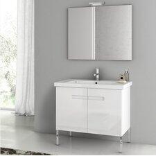 New York 32.3 Single Bathroom Vanity Set with Mirror by ACF Bathroom Vanities