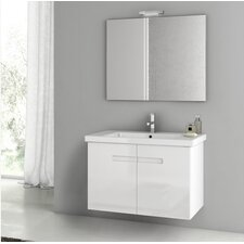 New York 32.3 Single Bathroom Vanity Set with Mirror by ACF Bathroom Vanities
