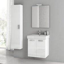 Cubical 21.9 Single Bathroom Vanity Set with Mirror by ACF Bathroom Vanities
