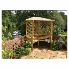 Balmoral 3 Seater Timber Corner Arbour