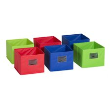 Multicolored Stackable Cubby Bin (Set of 6)