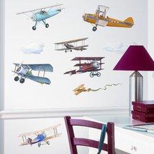 Studio Designs 22 Piece Vintage Planes Wall Decal