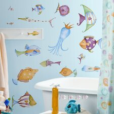 Studio Designs 35 Piece Sea Creatures Wall Decal