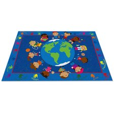 World Character Classroom Kids Area Rug