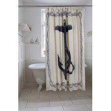 Bath Cotton Anchor Shower Curtain