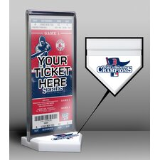 World Series Champions Ticket Display Stand