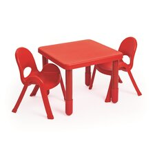 MyValue Set Kids 3 Piece Square Writing Table Set