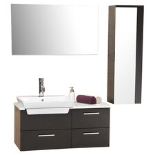 "Stella 36"" Single Caro Modern Bathroom Vanity Set with Mirror"