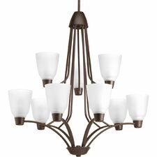 Goodhue 9-Light Shaded Chandelier