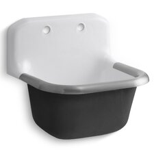 "Bannon 24"" x 20.5"" Single Wall-Mounted or P-Trap Mounted Service Sink"