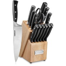 15 Piece Triple Rivet Knife Block Set