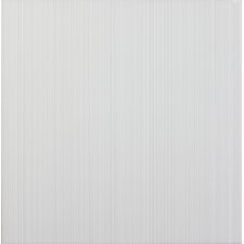 Vibrance 33.1cm x 33.1cm Ceramic Fabric Look/Field Tile in White