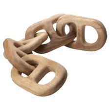Hand-Carved Chain 5 Link Sculpture
