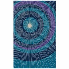 Eccentric Hand-Tufted Blue Area Rug
