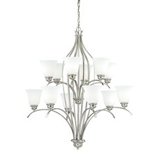 Darby 12-Light Shaded Chandelier