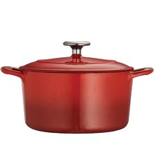 Gourmet Enameled 6.5 Qt. Cast Iron Round Dutch Oven