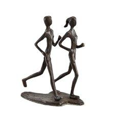 Couple Jogging Sculpture